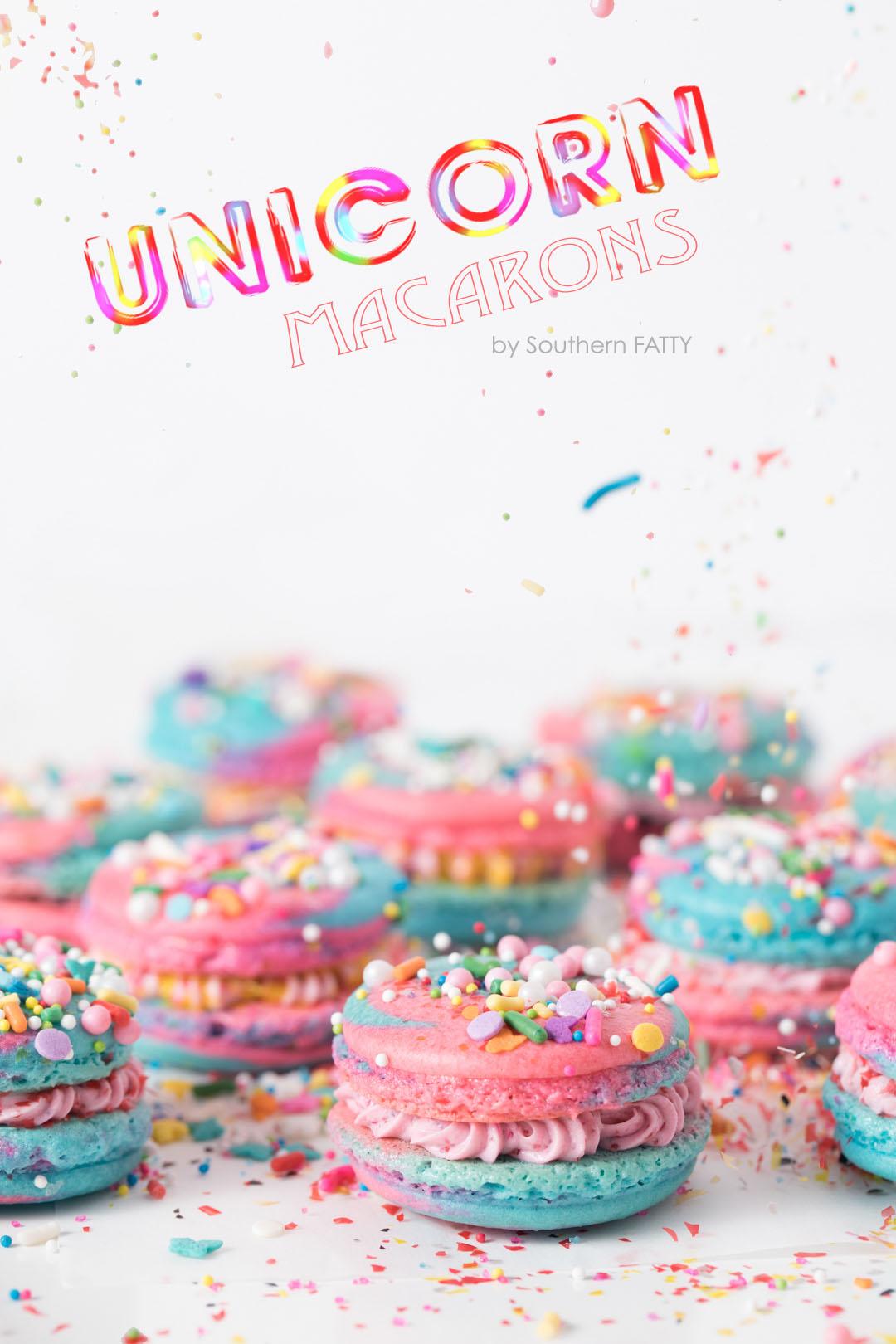 Unicorn Macarons by SouthernFATTY.com