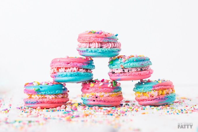 Unicorn Macarons by SouthernFATTY.com