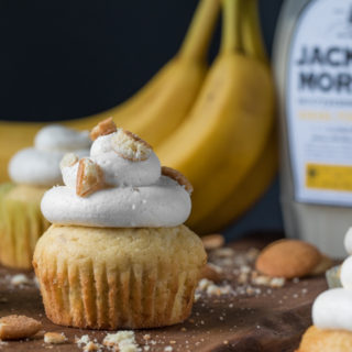 Banana Pudding Whiskey Cupcakes by Southern FATTY