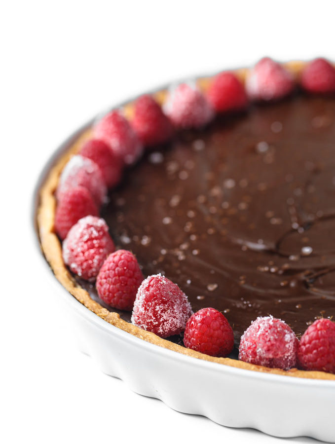 Simple Chocolate Ganache Tart by Southern Fatty