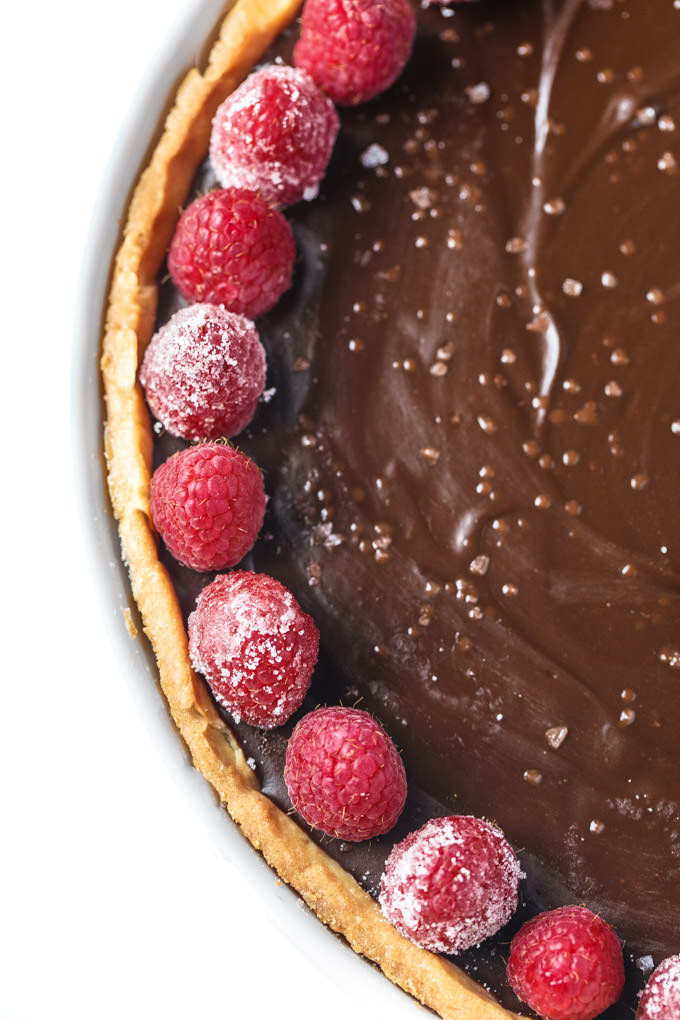 Simple Chocolate Ganache Tart by Southern Fatty