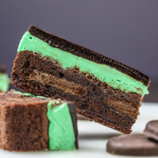 Thin Mint Ganache Brownies by Southern Fatty