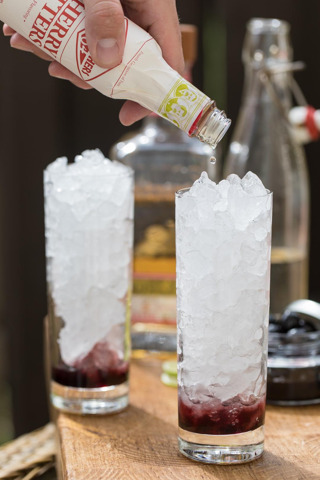 Cherry Tequila Swizzle