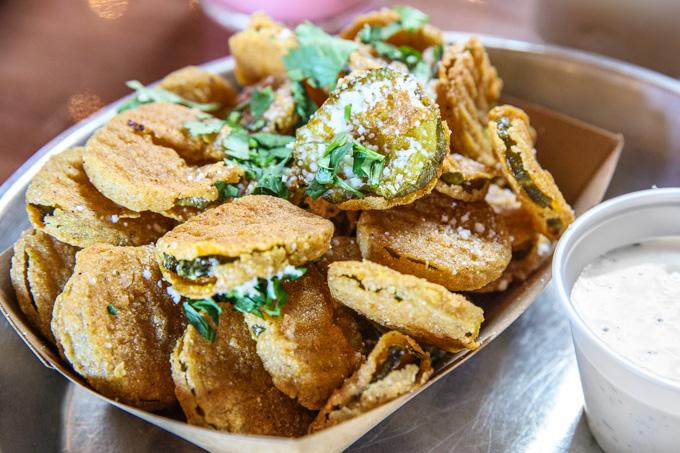 Feast BBQ in Louisville Fried Pickles