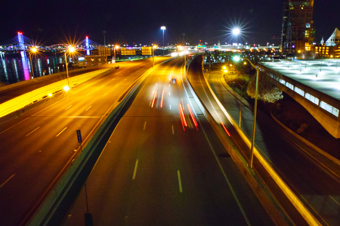 Louisville Streets at Night