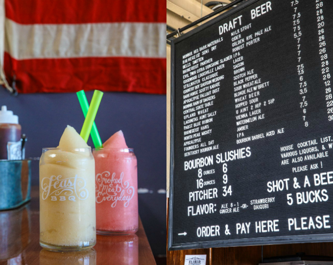Feast BBQ Bourbon Slushies in Louisville