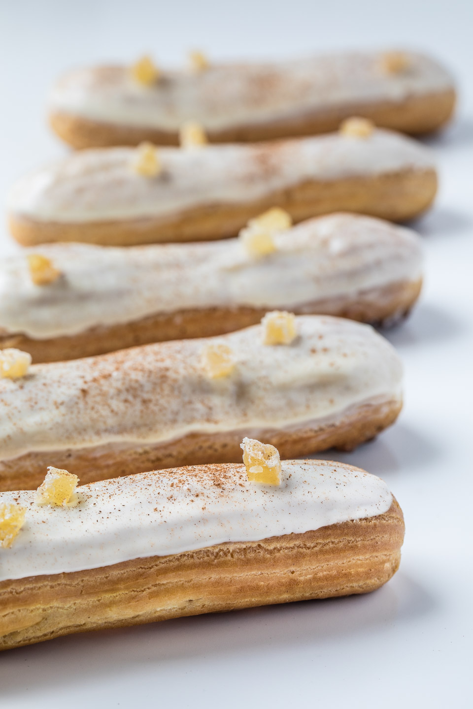 Chai Caramel Cream Eclairs from Southern Fatty