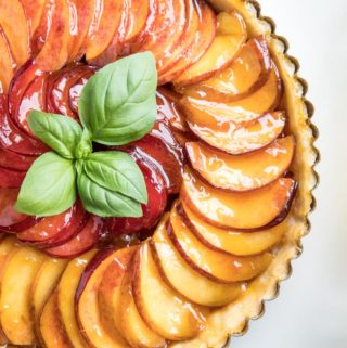 Tequila Glazed Peach Tart