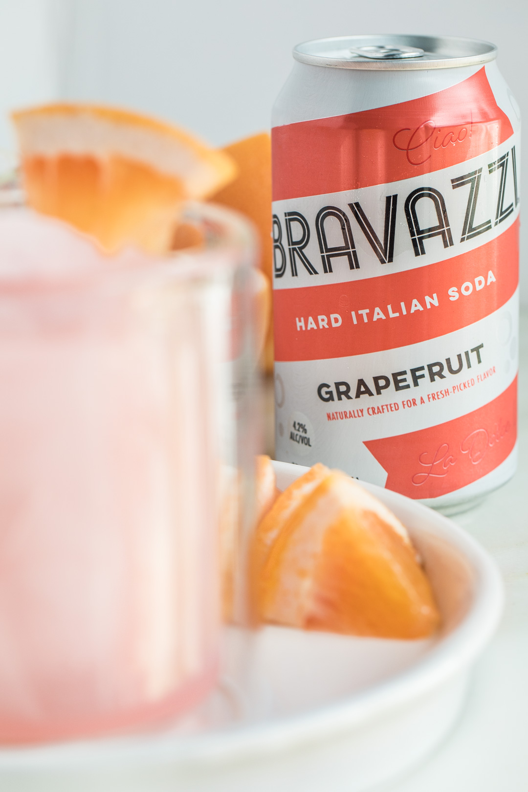 Grapefruit Italian Soda Adult Slushie