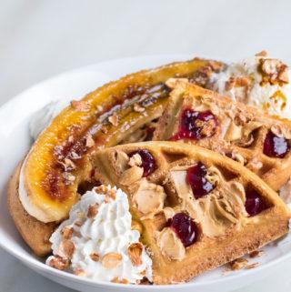 Elvis Dessert Waffles