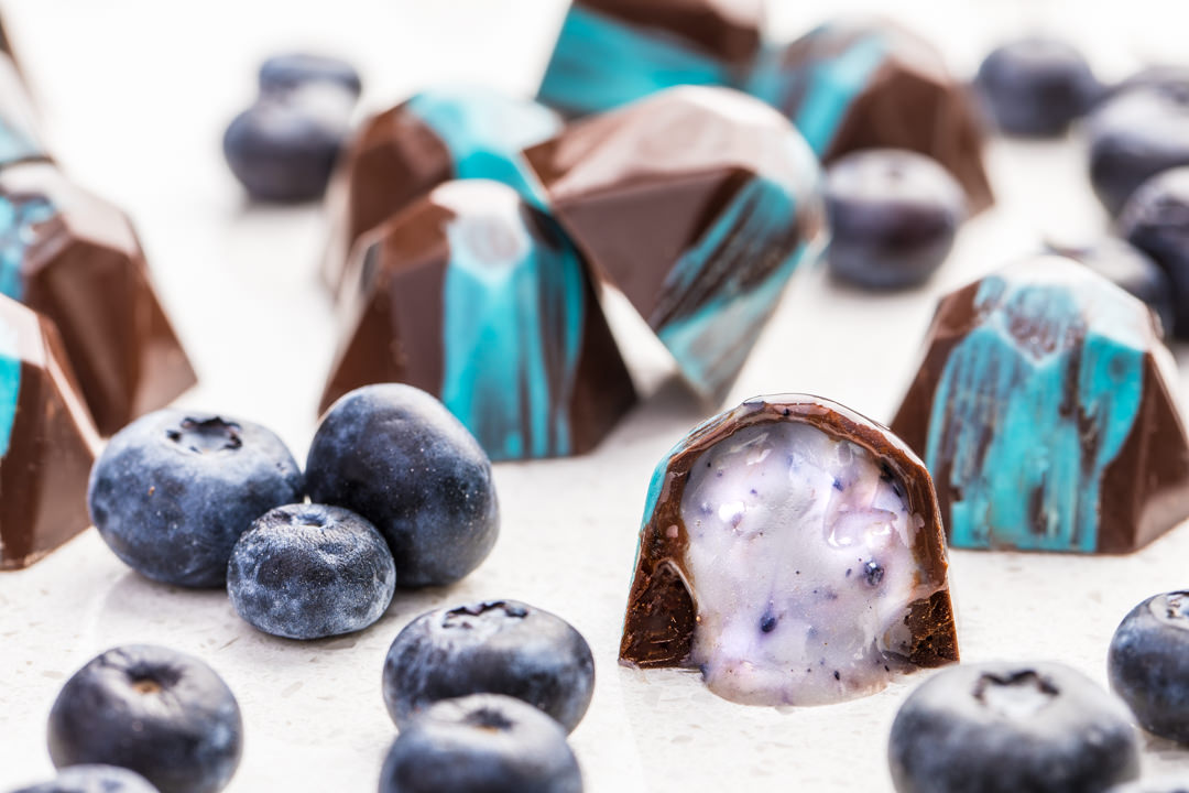 Blueberry Ganache Truffles from SouthernFatty