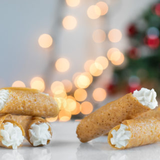 Brandy Snaps with Honey Whipped Cream - SouthernFatty.com