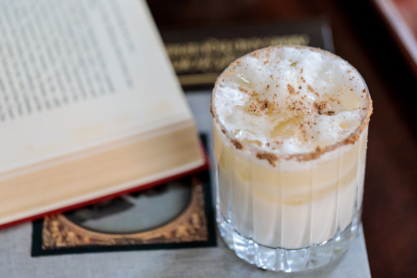 Bourbon Milk Punch from Southern Fatty