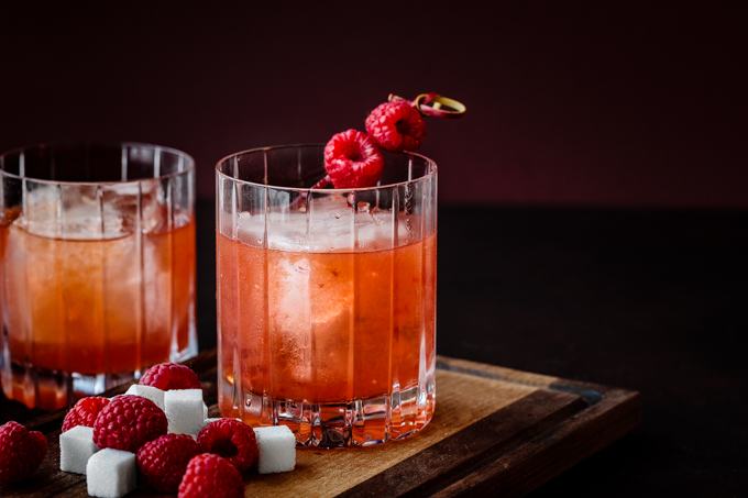 Raspberry Rye Old Fashioned Cocktail