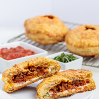 Baked Lasagna Hand Pies with Puff Pastry