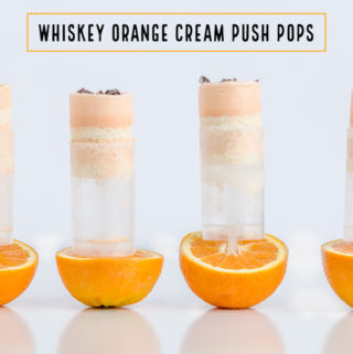 Whiskey Orange Cream Push Pop Ice Cream Recipe