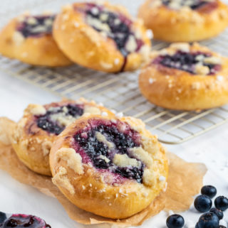 Blueberry Streusel Kolache Sweet Bread