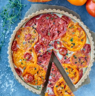 Tomato Tart with Walnut Wheat Crust
