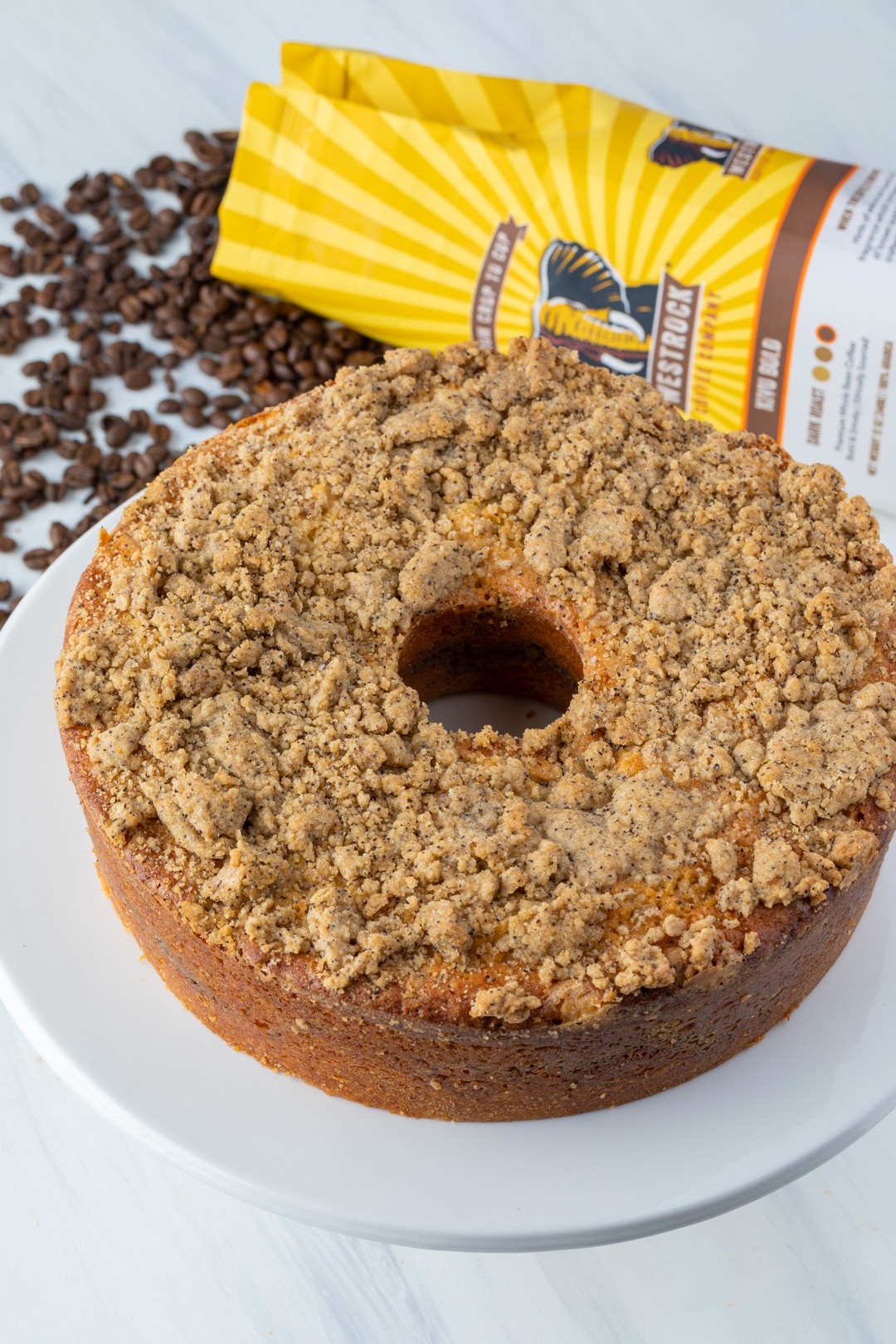 Coffee Cake recipe with Coffee Swirl, Coffee Streusel Crumble, Coffee Glaze