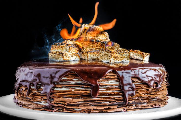 S'mores Crêpe Cake