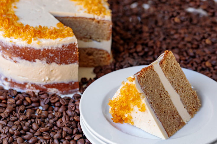 Vietnamese Coffee Cake with Espresso Buttercream