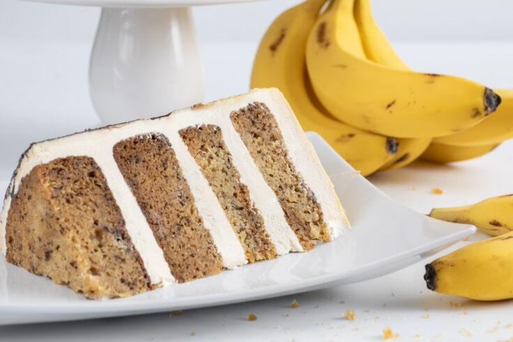 Banana Caramelized White Chocolate Cake