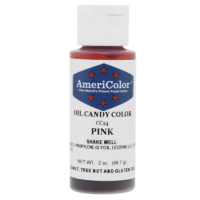 Pink Candy Making food Coloring, Oil Based, Americolor, 2 oz.