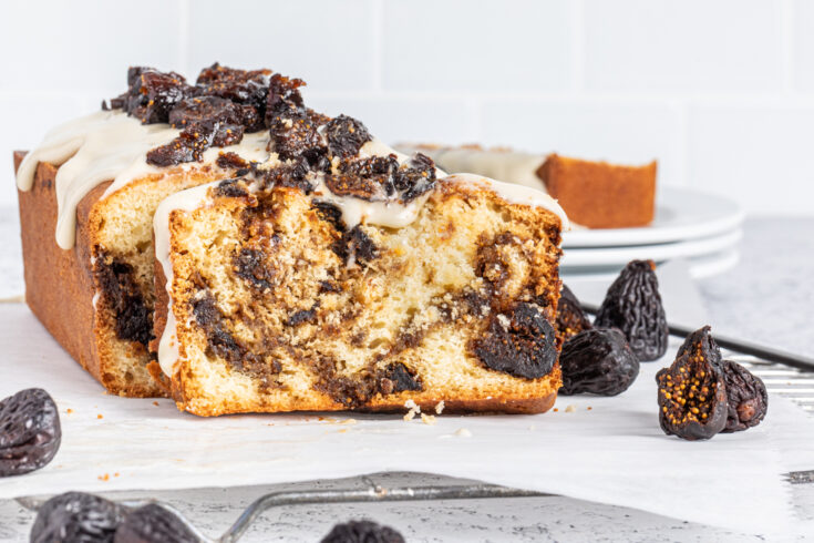 Honey Glazed Brown Sugar Fig Swirl Cake