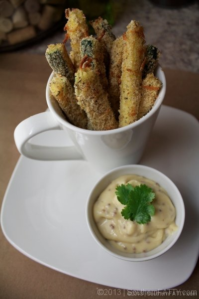 Crispy, Baked Parmesan Zucchini Fries